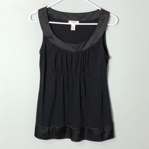 Ann Taylor Loft sleeveless blouse small black